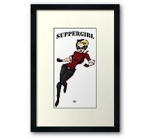 SupperGirl Framed Print
