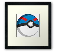 Pokeball - Great Ball Framed Print