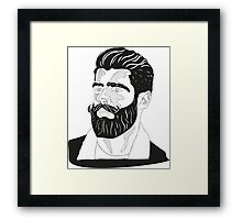 Bearded man Framed Print