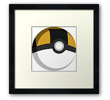 Pokeball - Ultra Ball Framed Print