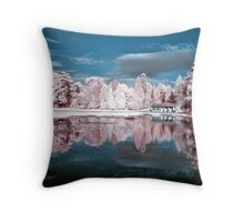 Curling Pond Blues Throw Pillow