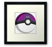 Pokeball - Master Ball Framed Print