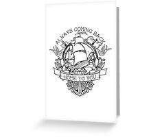 Sailor Tattoo Fan Art Greeting Card