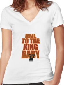 Evil Dead - Hail To The King Women's Fitted V-Neck T-Shirt