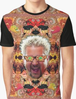 God Guy Fieri's Hot Dog Diggityverse Graphic T-Shirt