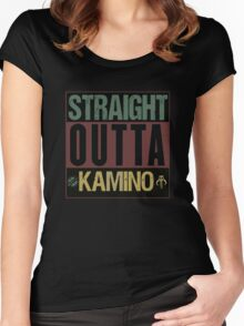 Star Wars - Straight Outta Kamino Women's Fitted Scoop T-Shirt
