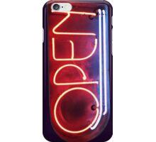 Neon Sign - Open iPhone Case/Skin