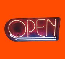 Neon Sign - Open Kids Tee