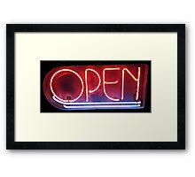 Neon Sign - Open Framed Print