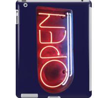 Neon Sign - Open iPad Case/Skin