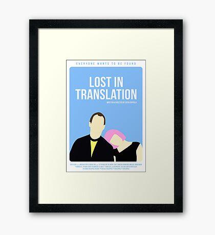 Lost In Translation film poster Framed Print
