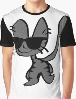 Cool Cat Walks The Walk Graphic T-Shirt