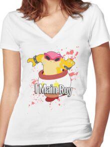 I Main Roy - Super Smash Bros Women's Fitted V-Neck T-Shirt
