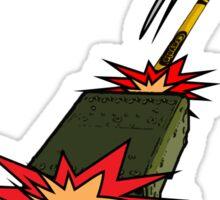 Make art not war... by #fftw Sticker