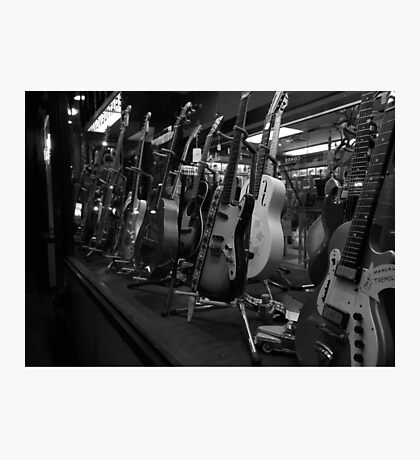 Guitars. Bleecker Street. B&W Photographic Print