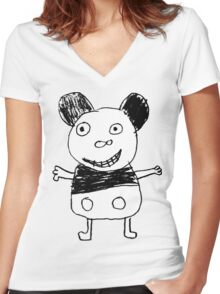 Micky Women's Fitted V-Neck T-Shirt