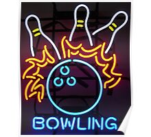 Neon Sign - Bowling Poster