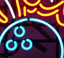 Neon Sign - Bowling Sticker