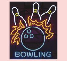 Neon Sign - Bowling Kids Tee