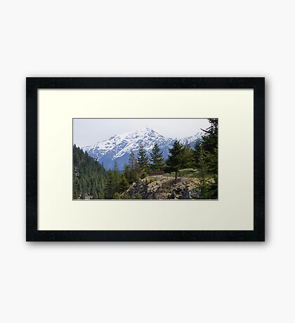 North Cascade Mountain Range, Washington State, USA Framed Print
