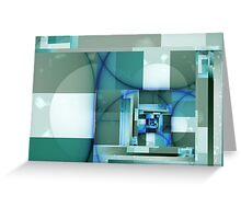 City Abstract - Blue / Teal Greeting Card