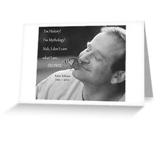Robin Williams, quote from Aladdin Greeting Card