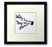 Timey Wimey Stuff Framed Print