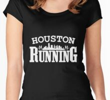 houston running Women's Fitted Scoop T-Shirt