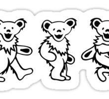 Dancing Bears White Sticker