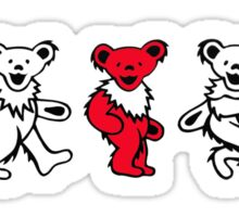 Dancing Bears Red Sticker