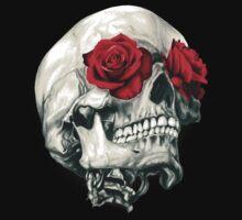 Rose Eye Skull Baby Tee