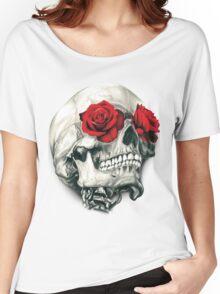 Rose Eye Skull Women's Relaxed Fit T-Shirt