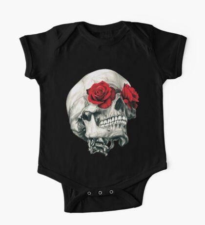 Rose Eye Skull One Piece - Short Sleeve
