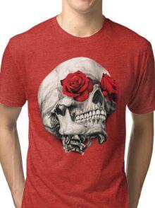 Rose Eye Skull Tri-blend T-Shirt
