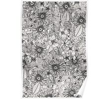 pencil flowers Poster