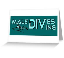 Maledives diving, colours cyan and black Greeting Card