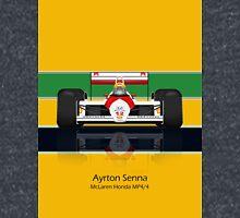 Ayrton Senna - McLaren MP4/4 - Front view full colour helmet Classic T-Shirt