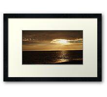 Sunset on Faro Beach, Portugal Framed Print