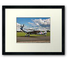 """Spitfire LF.IXc MK732/3W-17 PH-OUQ """"Polly Grey"""" taxying Framed Print"""