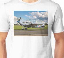 """Spitfire LF.IXc MK732/3W-17 PH-OUQ """"Polly Grey"""" taxying Unisex T-Shirt"""