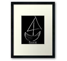 Sailboat Sail Framed Print