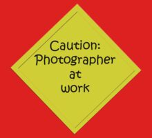 Caution: Photographer at work Kids Tee