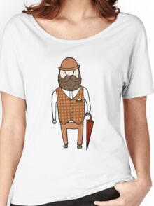 Gentleman with umbrella Women's Relaxed Fit T-Shirt