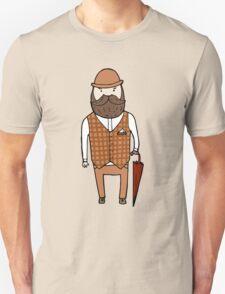 Gentleman with umbrella Unisex T-Shirt