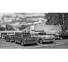 Old cars at the garage Photographic Print