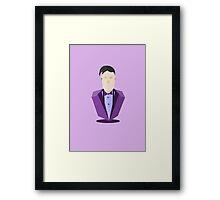 Eleventh Doctor - Purple Framed Print
