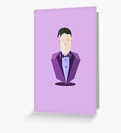 Eleventh Doctor - Purple Greeting Card
