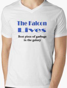 The Falcon Lives Mens V-Neck T-Shirt