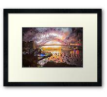 Sydney NYE Fireworks 2015 # 17 Framed Print