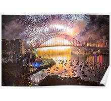 Sydney NYE Fireworks 2015 # 17 Poster